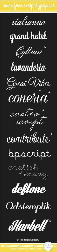 Beautiful free fonts to smarten up your social media marketing designs www.socialmediamamma.com