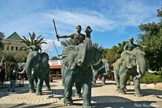 Tribute to Hannibal, Carthage, Tunisia. If the elephants look small, it's because they weren't African or Asiatic elephants, but Atlas elephants (now extinct). Nevertheless they would've been a very impressive sight on the battlefield.