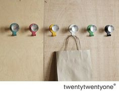 Canteen Hook And Knob, 2009 - contemporary - hooks and hangers - twentytwentyone.  Found on Houzz.