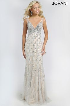 Crystal Embellished Gown 98543
