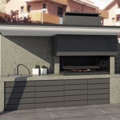 Barbacoa a Medida Bonnín Dream Patio, Barbecue Design, Rooftop Terrace Design, Outdoor Kitchen Design, House Architecture Design, Fireplace Design, Outdoor Fireplace Designs, Outdoor Kitchen Decor, Built In Braai