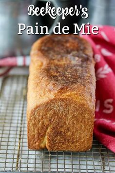 Beekeepers pain de mie with honey and chamomile infused milk. It's the perfect sandwich bread. Yeast Bread, Bread Baking, Flour Bakery, Simple Muffin Recipe, Bakers Gonna Bake, Baked Doughnuts, Flatbread Recipes, Quick Bread Recipes, Kitchen Stories