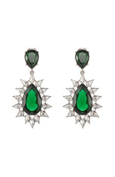 KENNETH JAY Faceted Earrings with Crystals | STYLEBOP.com