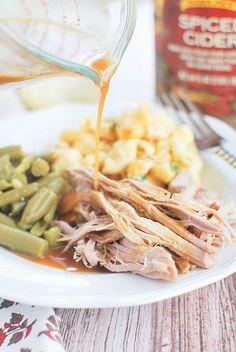 Crockpot Apple Cider Braised Pork