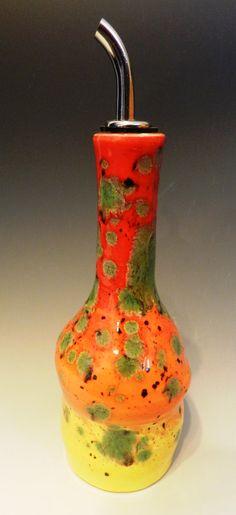 Sunrise and sunset olive oil bottle by MarkCampbellCeramics, $25.00