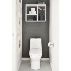 Room & Board - Foshay Wall Shelves in Colors - Hooks & Wall Organizers - Modern Bath Furniture Bookcase Wall Unit, Wall Shelf Unit, Wall Shelves, Shelf Units, Small Toilet Room, Small Bathroom, Toilet Room Decor, Small Toilet Decor, Master Bathroom