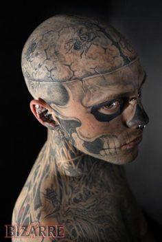 Tattoo guy close-up