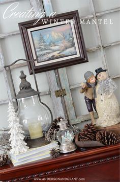Do you hate how bare everything looks once the Christmas decorations are down?  Check out this post for some tips on how to create a great mantel for winter.  |  anderson + grant