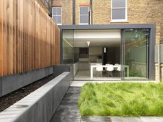Nice rear extension with minimal windows sliding doors. www.methodstudio.london