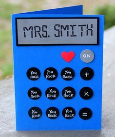 Calculated Kudos- Personalized Teacher Appreciation Card by thepaperhugfactory on Etsy https://www.etsy.com/listing/275487400/calculated-kudos-personalized-teacher  Teacher card Teacher appreciation card Card for teacher Calculator Calculator card Cute card
