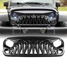 Colorable: Matte black looks more sophisticated. Jeep Wrangler Rubicon, Jeep Wrangler Models, Blue Jeep, Jeep Wrangler Accessories, Badass Jeep, Front Grill, Jeep Life, Car Accessories, Matte Black