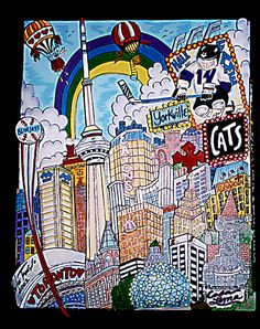 """Rainbow Over Toronto - 0154  11"""" x 14"""""""