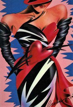 1980 Paper Moon Graphics - 'Red And Green Dalmations' Xmas Greeting Card Vintage Paper, Vintage Art, 1980s Art, 80s Design, Art Van, Paper Moon, Airbrush Art, Retro Aesthetic, Retro Art