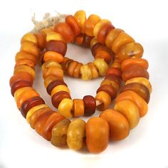 Antique African Traded Amber Beads