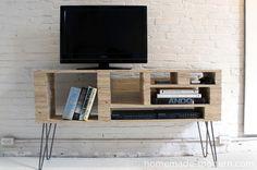 HomeMade Modern DIY Plywood Media Console