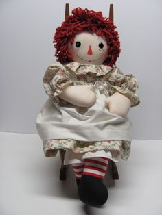 Raggedy Ann, Georgene Style, Handmade Repoduction by Joan Oest, my favorite doll artist.
