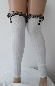 Hey, I found this really awesome Etsy listing at https://www.etsy.com/listing/179292288/silver-white-leg-warmers-fashion