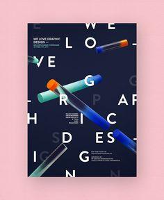 Visual identity for We Love Graphic Design 2014.WLGD is a one day graphic design seminar in Copenhagen, Danmark.