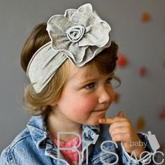 RETAIL Girls Baby Floral Headband Hairband Bow children infant toddler
