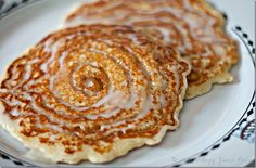 Cinnamon Roll Pancakes!!  OMG!