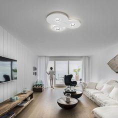 Bugia plafón led en versión triple de la firma Studio Italia Design