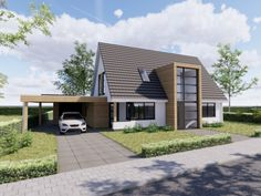 Ontwerp 45 | Visualisaties | Onze huizen | Presolid Home 2 Storey House, House 2, Modern Architecture, Decoration, Building A House, Home Goods, House Plans, Sweet Home, New Homes