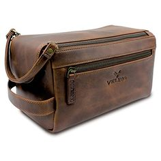 3be66665ff9e Velino Handmade Genuine Buffalo Leather Unisex Toiletry Bag Travel Dopp Kit  Grooming and Shaving Kit ~ Gift for Men Women ~ Hanging Zippered Cosmetic  Pouch ...