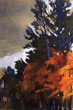 Autumn Landscape (in France)  Zinaida Serebriakova - 1914 (prob. watercolor)