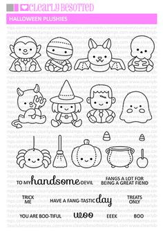 High quality photopolymer stamps manufactured in the UK Candy Apples, Candy Corn, Diy Halloween Toys, Clear Stamps, Plushies, Best Sellers, Coloring Pages, Witch, Embroidery