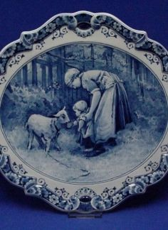 "♥ ~ ♥ Blue and White ♥ ~ ♥ Oval Wall Plaque ""Mother with Baby"" Royal Delft Blue Delft, Blue Dishes, White Dishes, Blue And White China, Love Blue, Flow Blue China, Blue White Kitchens, Blue Plates, China Plates"