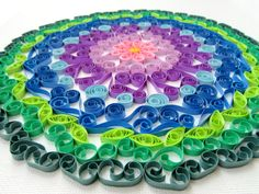 Mandala Wall Art Mandala Canvas Art Paper Quilled by SarahEGillis