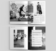 Dogway Skateboard Magazine — Redesign on Behance Page Layout Design, Magazine Layout Design, Design Design, Logo Design, Editorial Layout, Editorial Design, Typography Magazine, Book Design Inspiration, Sketchbook Inspiration