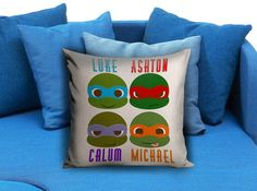 5 seconds of summer ninja turtles Pillow case  #pillow case #pillow cover #custom pillow case #bed #throw pillow case #bedroom