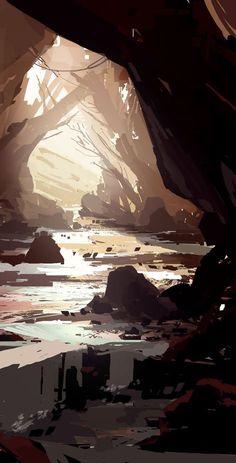 New Landscape Concept Art Shadows Ideas Concept Art Landscape, Fantasy Concept Art, Fantasy Art Landscapes, Landscape Drawings, Fantasy Landscape, Landscape Art, Art Drawings, Concept Draw, Mountain Landscape