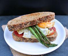 Fried Egg and Serrano Ham Breakfast Sandwich - honey & figs