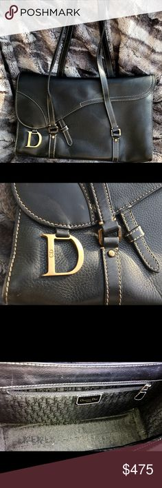 Medium black Christian Dior purse Medium sized vintage Christian Dior 100% authentic handbag. Comes with original dustbag and certificate of authenticity from purchase as shown in pictures. Like new condition. Christian Dior Bags Shoulder Bags