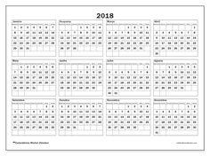 Livre! Calendários para  2018 para imprimir