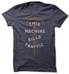 kills traffic commuter bicycle t-shirt