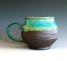 Large Coffee Mug Holds 16 oz handmade ceramic cup by ocpottery, $25.00