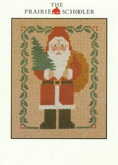 1984 Prairie Schooler Santa Cross Stitch Pattern Christmas Holiday | countrygarden - Patterns on ArtFire