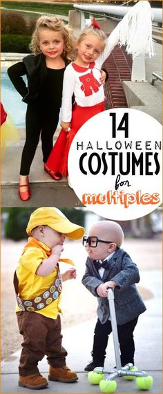 Halloween Costumes for multiples, siblings and friends. Easy Halloween costumes for twins, triplets or more. Darling costumes for two!