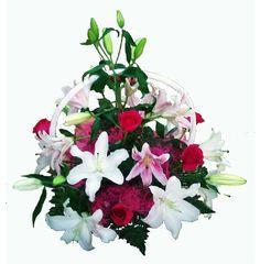 Cesta de flores para enviar como regalo