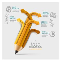 Business Infographic creative design 1349- mostly using this for the pencil flowchart!!