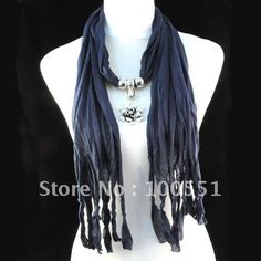 I own several of these scarfs in various colors and various jewelry accents; butterfly, rose, heart, cross with rose in center of cross, etc. Lightweight and I receive many compliments when I wear mine! : )