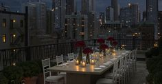 Have a Rooftop Dinner in the City OMG beautiful
