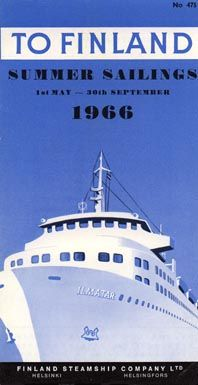 Ad sailings May - September 1966