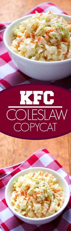 Coleslaw Copycat KFC Coleslaw Copycat – make your restaurant favorite right in your kitchen! Perfect for the summer BBQ's and potlucks!KFC Coleslaw Copycat – make your restaurant favorite right in your kitchen! Perfect for the summer BBQ's and potlucks! Slaw Recipes, Fruit Salad Recipes, Copycat Recipes, Soup Appetizers, Appetizer Recipes, Vegetable Side Dishes, Vegetable Recipes, Kfc Coleslaw, Coleslaw Salad