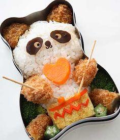 Croquette Panda bento