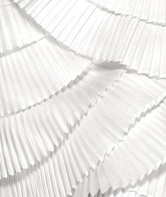 Pleats - fabric manipulation; white texture; pleating; textiles for fashion