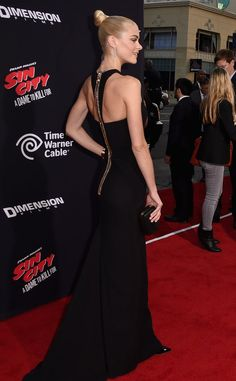 Pin for Later: It Was Jessica Alba's Night, but Which Dame's Dress Would You Kill For? Jaime King From the Back